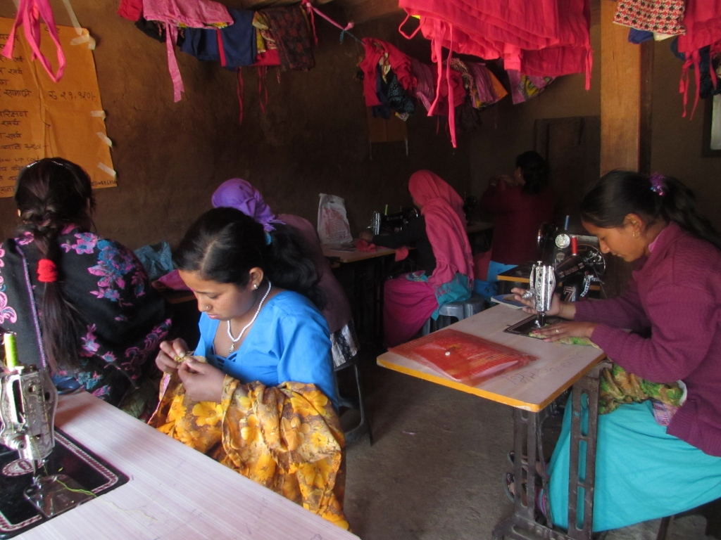 Dress maker training in Ghartigaun